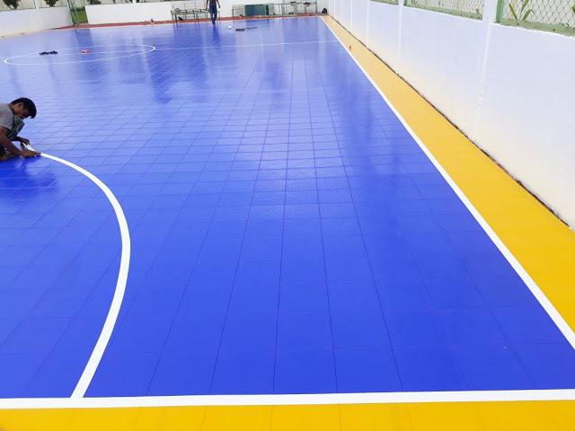 gambar lapangan interlock futsal