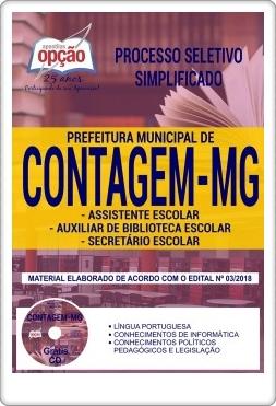 Apostila concurso Prefeitura Municipal de Contagem MG Assistente Escolar