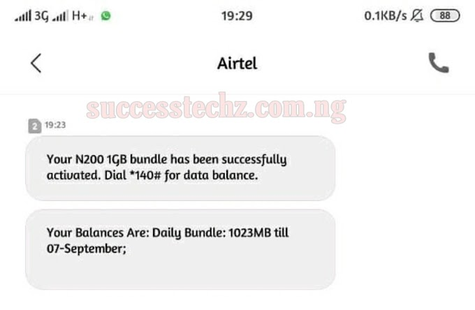 How To Activate Airtel Special Data Bundles With Massive Gigabytes - N200 For 1GB