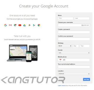 Cara Membuat Email Gmail Baru Dengan Mudah