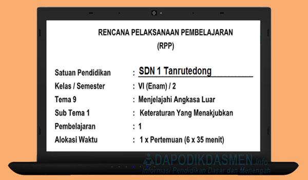 RPP Kelas 6 SD MI Semester 2 Kurikulum 2013 Lengkap Semua Tema