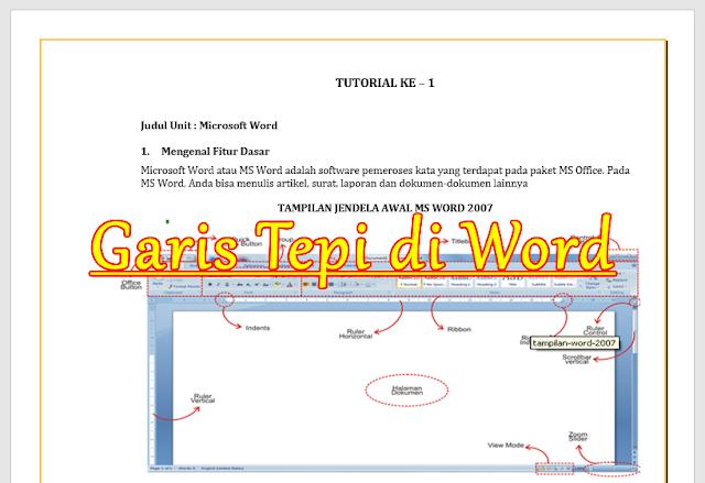 cara membuat garis tepi di microsoft word