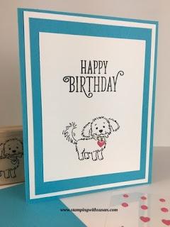 Stampin Up Bella & Friends Birthday Card www.stampingwithsusan.com