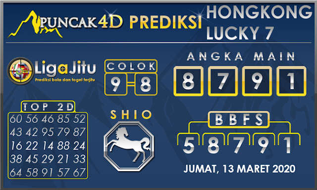 PREDIKSI TOGEL HONGKONG LUCKY7 PUNCAK4D 13 MARET 2020