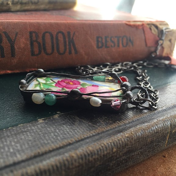 Upcycled china jewelry by Laura Beth Love