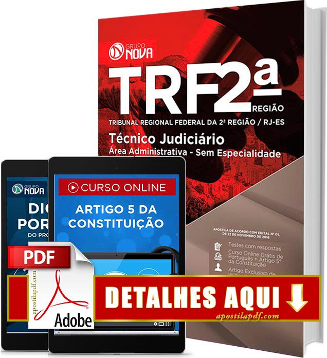 Apostila TRF 2 Região 2016 PDF Impressa Técnico Judiciário Area Administrativa