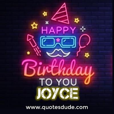 Message for Joyce's Birthday.