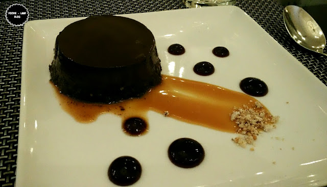 Cacao, Amaretti & caramel pudding with blueberry@The Italian Road Trip @ ALBA | JW Marriott Hotel | Bangalore