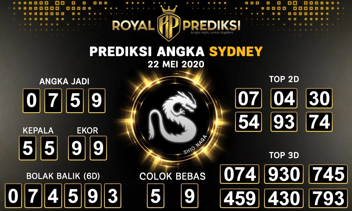 Prediksi Togel Sydney Jumat 22 Mei 2020 - Royal Prediksi
