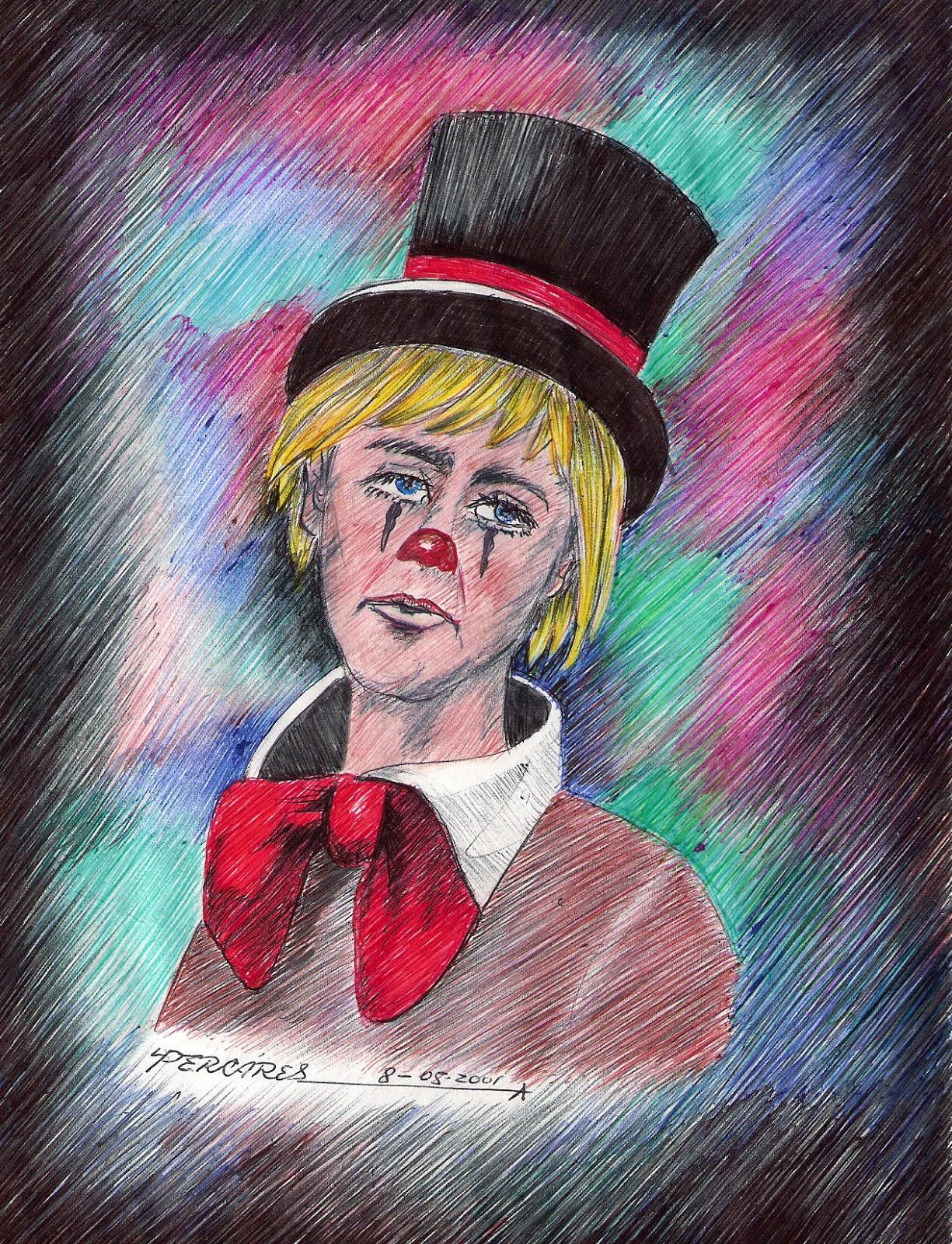 Payaso Llorando Craying Clown Luis Alberto Percáres