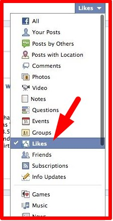 how to see likes on facebook page
