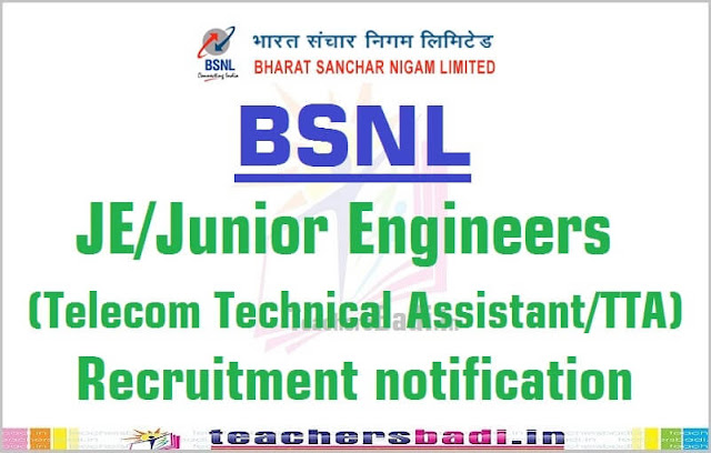 BSNL,JE,Junior Engineers,Recruitment