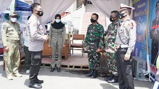 OPS LILIN CANDI 2020 Pamatwil Polda Jateng Cek Pos Pam Pengamanan Di Kendal Dan Batang