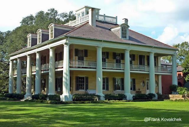 Mansión sureña norteamericana Houmas House en East Bank Side Mississippi