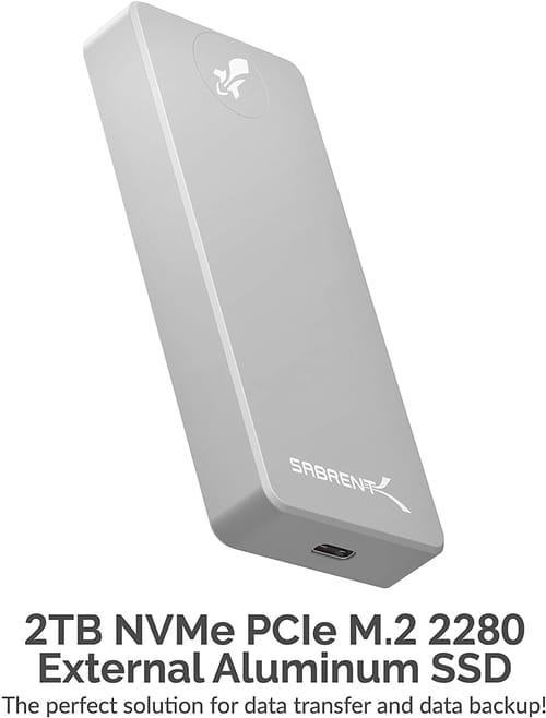 Review Sabrent 2TB USB 3.2 External Aluminum SSD