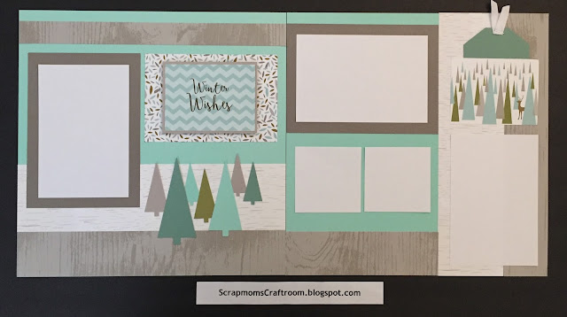 Winter Wishes layout using Oh Deer! paper - ScrapmomsCraftRoom.blogspot.com #ctmhohdeer