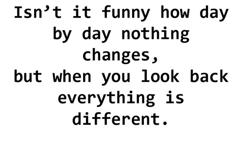Funny How Things Change Quotes. QuotesGram
