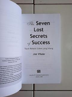 The Seven Lost Secrets Of Success (Tujuh Rahasia Sukses Yang Baru Terungkap)