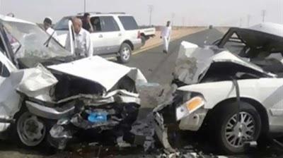 مصرع واصابة 7 أشخاص في حادث تصادم علي الطريق الصحراوي الشرقي بأخميم في سوهاج
