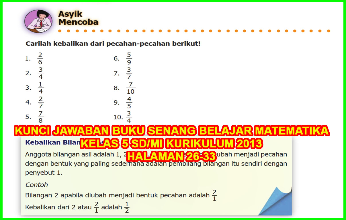 Kunci Jawaban Buku Senang Belajar Matematika Kelas 5 Halaman 26 27 28 29 30 32 33 Sanjayaops