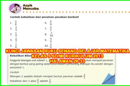 Kunci Jawaban Buku Senang Belajar Matematika Kelas 5 Halaman 26, 27, 28, 29, 30, 32, 33