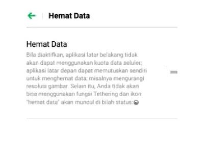Mengaktifkan mode hemat data