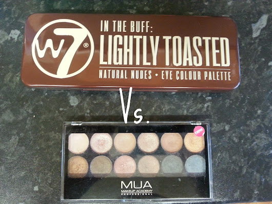 W7 In the Buff: Lightly Toasted vs. MUA's Undressed palette. Naked Palette DUPES!