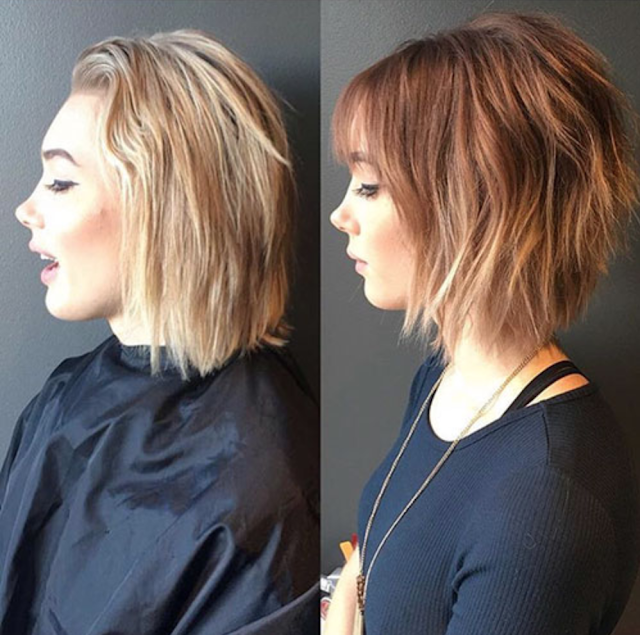 short hairstyles with bangs 2020