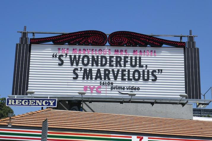 Mrs Maisel season 3 FYC marquee billboard installation