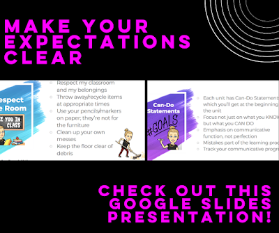 Google Slides Expectations Presentation