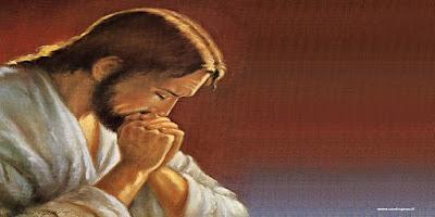 imagem de Jesus rezando oração da noite