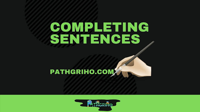 Completing Sentences Rules in Bangla (PDF Download)