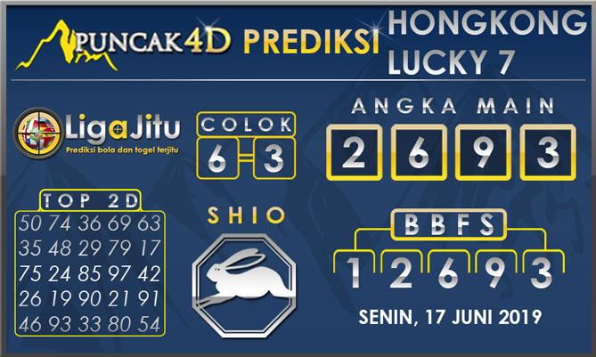 PREDIKSI TOGEL HONGKONG LUCKY7 PUNCAK4D 17 JUNI 2019