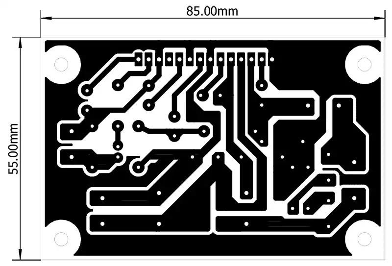 la4440 amplifier circuit pcb layout