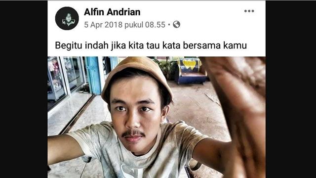 Disebut Gangguan Jiwa, Beredar Foto Pelaku Penusukan Syekh Ali Jaber Lagi Makan Bakso dan Update Status