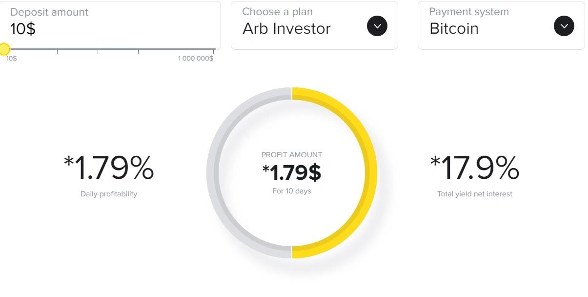 Инвестиционные планы Crypto-ARB