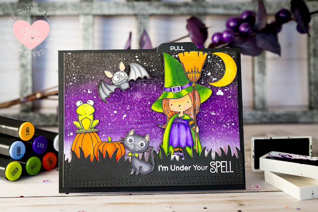 I'm Under Your Spell Interactive Card - MFT's Witch Way Is the Candy Stamp Set