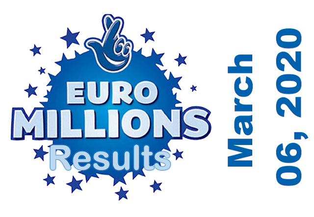 EuroMillions Results for Friday, March 06, 2020