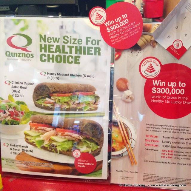 Alexis Blogs Healthier Food Review Quiznos Singapore