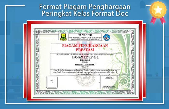 Format Piagam Kelas Format Doc