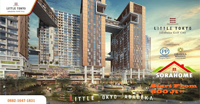 Little Tokyo Jababeka Apartemen Cikarang Utara Bekasi.Kawasan timur Jakarta dikala ini mempunyai prospek pengembangan properti yang sangat besar, bersamaan perpindahan tren properti dari Barat ke timur Jakarta serta ditopang pula dengan perkembangan industri serta populasi.