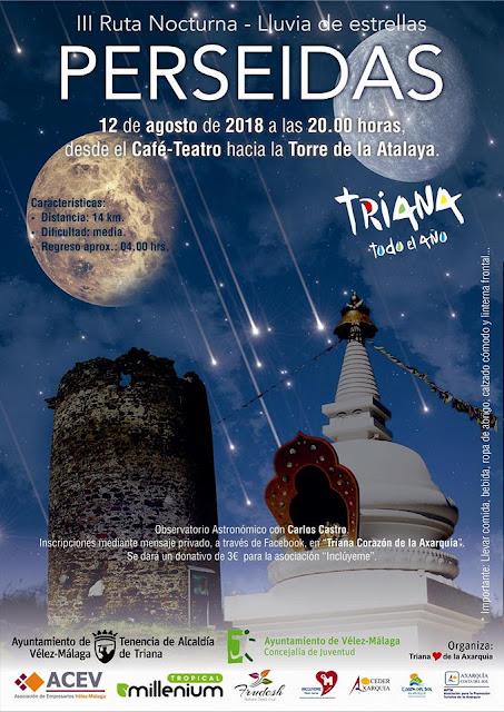 Ruta Astronómica para ver las Perseidas en Vélez Málaga
