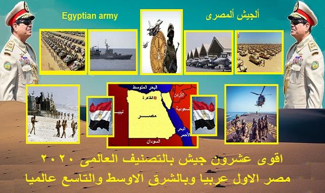 اقوى عشرون جيش بالتصنيف العالمى 2020 |مصر بالمرتبه الاولى بالشرق الاوسط وعربيا والتاسع عالميا