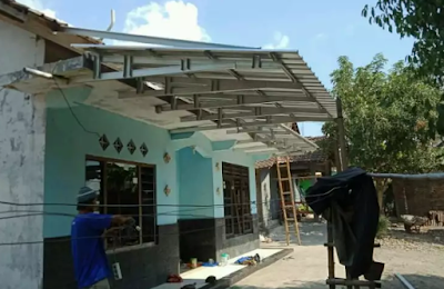 kanopi baja ringan tanpa tiang penyangga desain terbaru 2019
