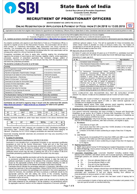 SBI+Recruitment+2000+Probationary+Officer+Posts