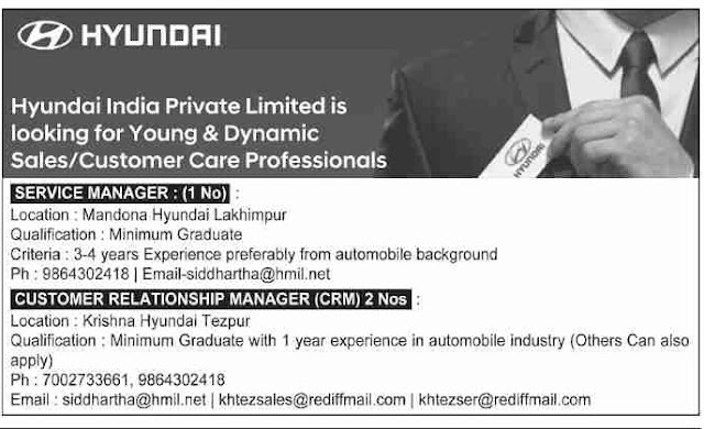 Hyundai India Private Ltd. Recruitment 2019