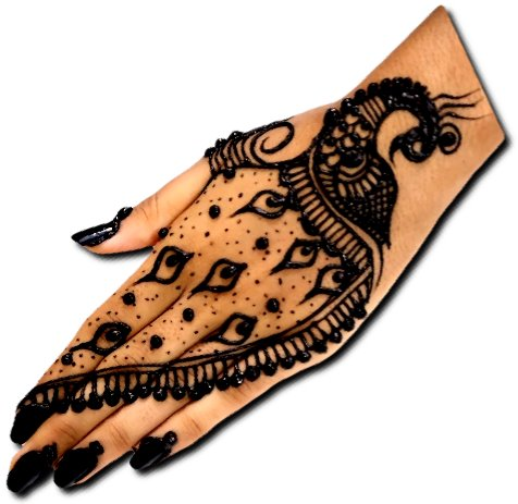 Peacock Mehndi Design Back Hand