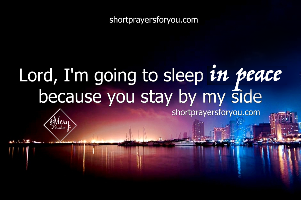 i´m going to sleep in peace night prayer