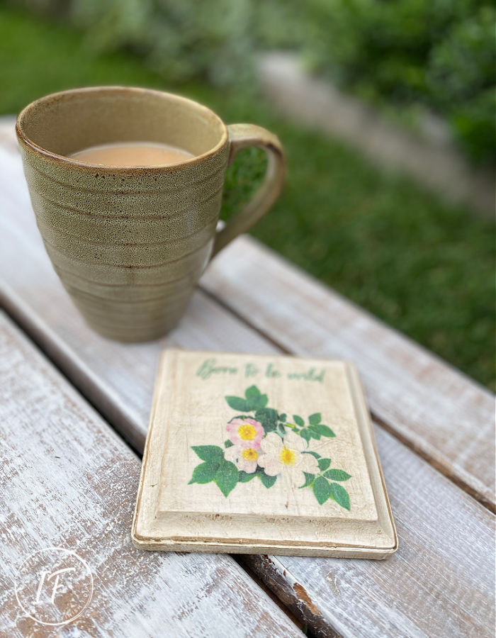 DIY Alberta Rose Wood Coaster