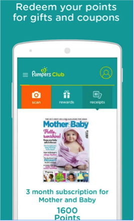 Pampers Club app - redeem points